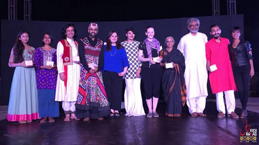 With the incredibly diverse and talented performers performing alongside me at Kuch Khass' International Dance Day PechaKucha event.