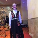 In a Norwegian traditional folk outfit for the performance!