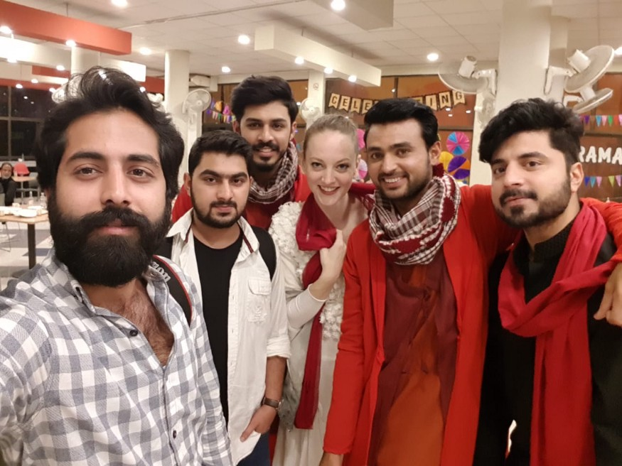 With the crew and performers at Goonj at GIK Institute.